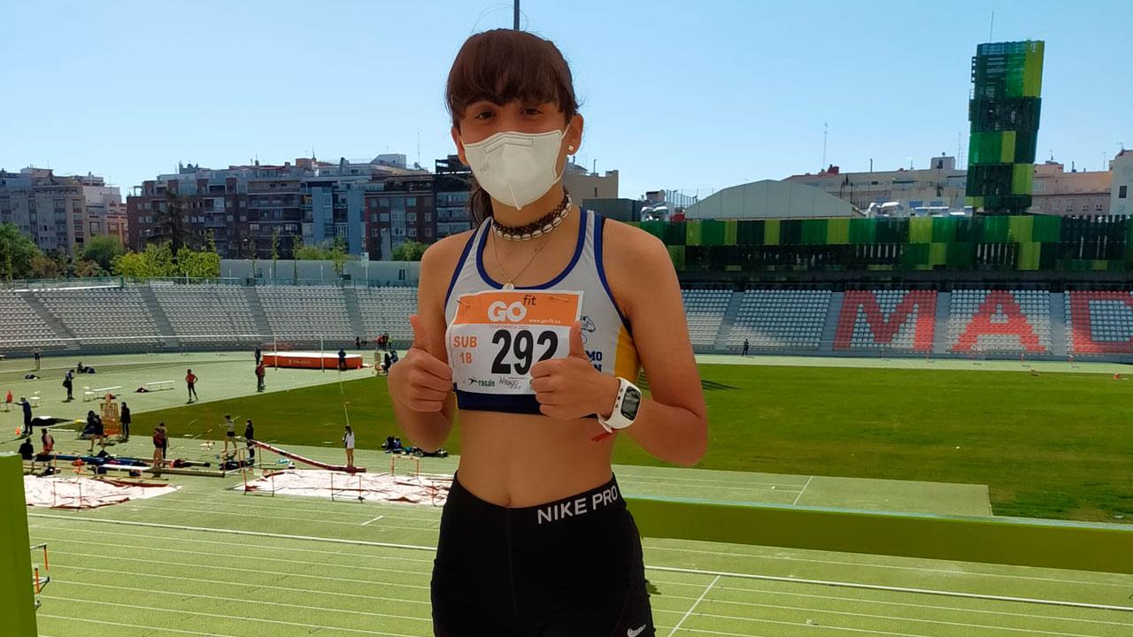 En una prueba de la Liga de Oro de atletismo de la Comunidad de Madrid