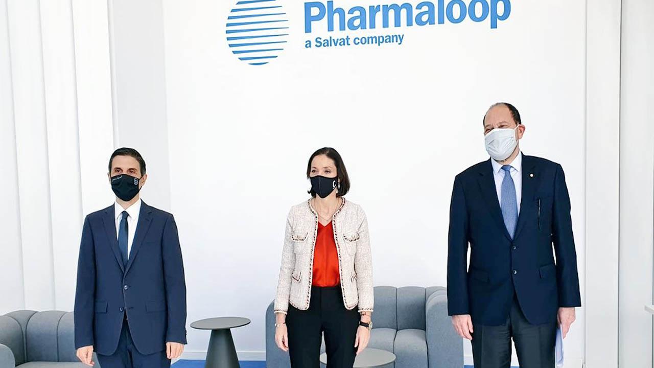Reyes Maroto ha querido felicitar la labor de Pharmaloop y Escribano para reforzar la Marca España