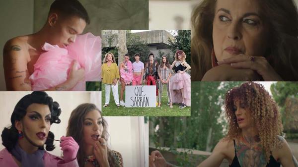 Personajes como Carla Antonelli aparecen en el video