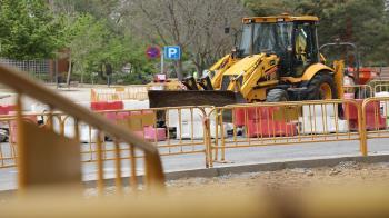 Esta parada se ha encontrado 15 días en desuso debido a las obras de mejora de la escena urbana