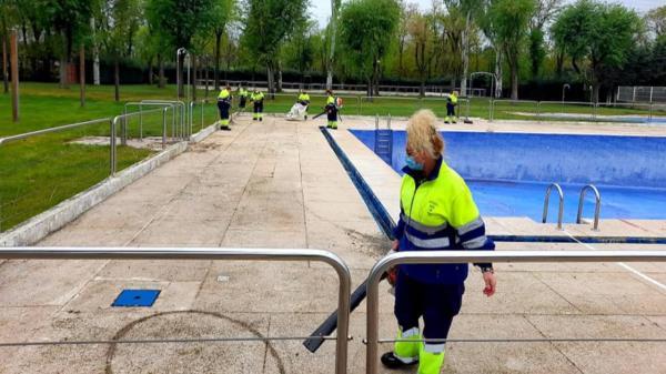 La piscina de Moraleja esta de reforma para abrirse este verano