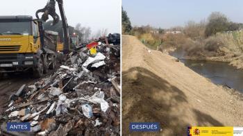 Se retirarán ahora los residuos del cauce del río en el término de Móstoles