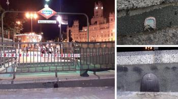 La estación de Banco de España a punto para recibir al famoso roedor