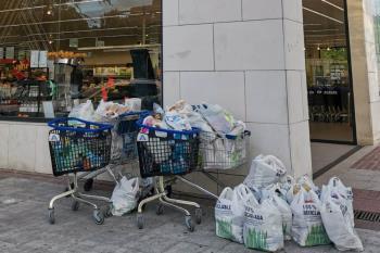 Tras la última recogida y donaciones de vecinos se repartieron 326 bolsas a 100 familias que son atendidas por la Red de Apoyo