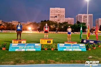 La deportista del Club Atletismo Torrejón logró dos platas en la competición celebrada en Sevilla
