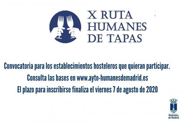 La X Ruta Humanes de Tapas vuelve al municipio