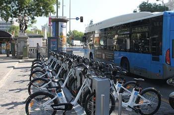 El servicio de bicicletas del Ayuntamiento concentra sus estaciones dentro de la M-30
