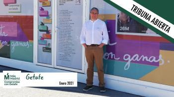 Jesús Pérez, portavoz de Más Madrid Compromiso con Getafe, nos remite la tribuna de enero