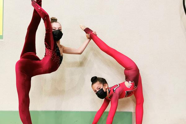 Ambas gimnastas representarán a nuestra ciudad en la competición celebrada en Valencia