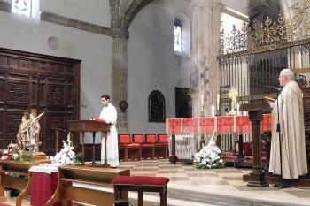 Debido a la crisis del COVID-19 este año no se pudo celebrar la tradicional procesión de Justo y Pastor