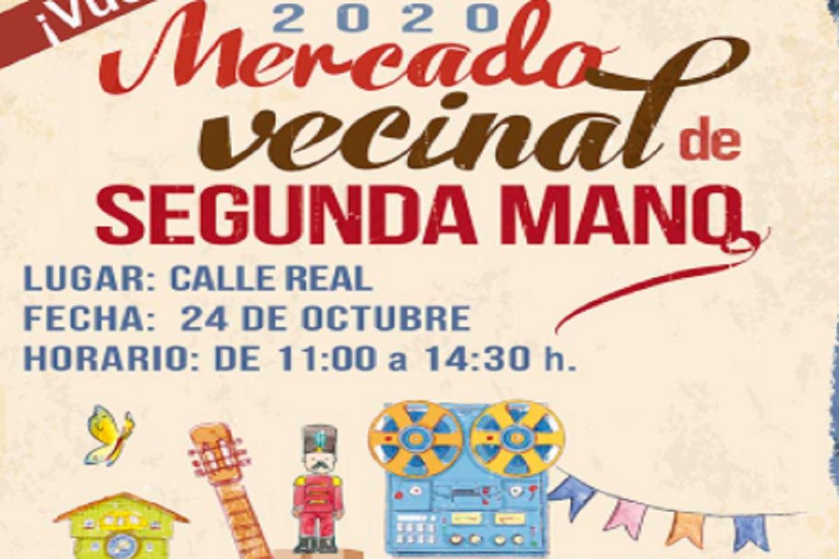El mercadillo se celebrará el sábado 24 de octubre en la Calle Real
