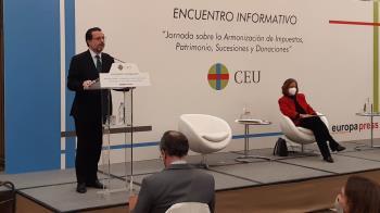 Lasquetti ha asegurado que la armonización fiscal al alza supondría subidas en Sucesiones y Donaciones o Patrimonio