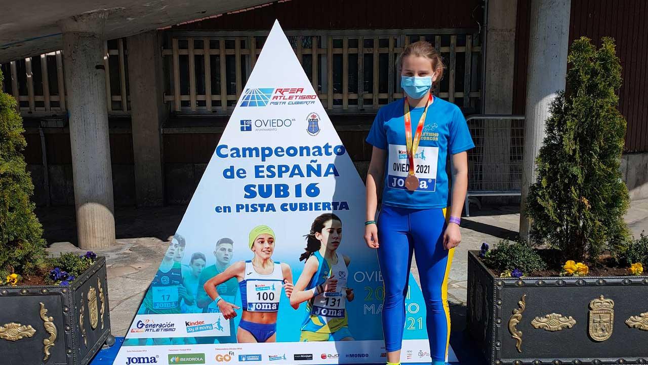La atleta alfarera realizó un gran papel en el Campeonato de España Sub-16