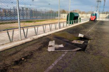El Ayuntamiento de San Fernando está llevando a cabo mejoras en el terreno de juego