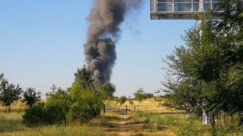 La columna de humo podía verse desde varios puntos de Fuenlabrada
