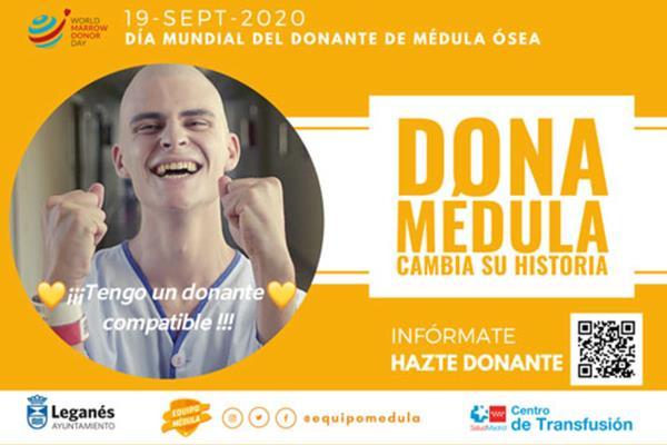 Leganés se suma a la campaña Cambia su historia del Centro de Transfusión por el Día Mundial del Donante de Médula Ósea