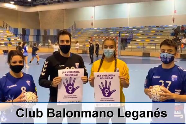 Leganés y sus clubes deportivos se unen contra la violencia de género