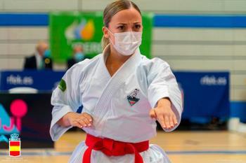 La karateca alcalaína cayó en la final de la segunda jornada de la Liga Nacional de Karate
