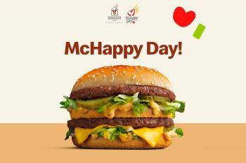 McHappy Day, es el día en el que la cadena de restaurantes donará la recaudación íntegra del Big Mac para ayudar a niños enfermos y sus familias