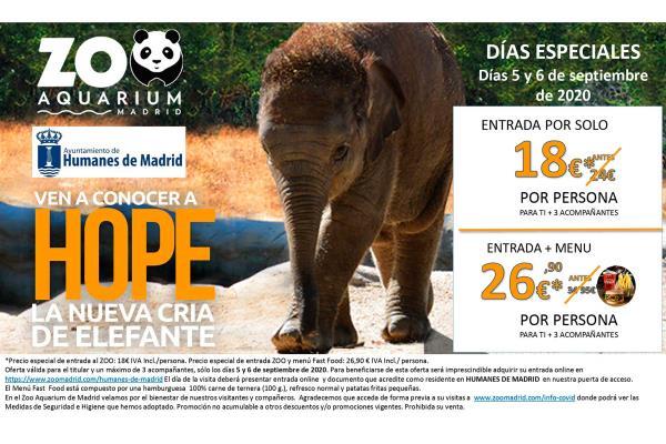 ¡Llegan los Días especiales de Humanes al Zoo de Madrid!