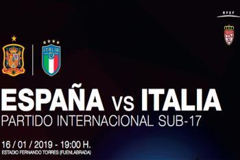 Partido internacional Sub-17, en el Estadio Fernando Torres