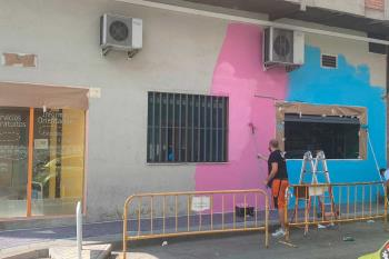 Pintarán un mural antes de la reapertura de las instalaciones, prevista para el 1 de octubre