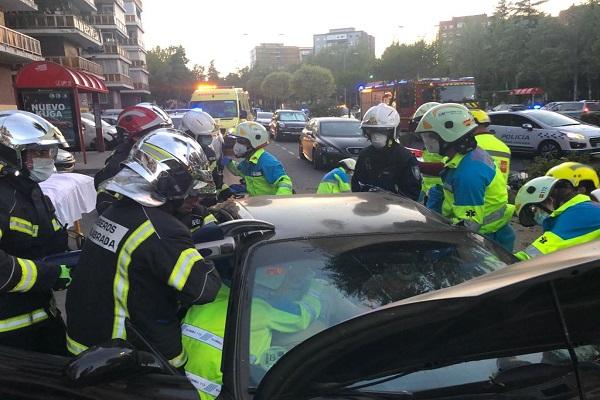 El incidente tuvo lugar en la avenida de España de la ciudad, a las 20:08 horas