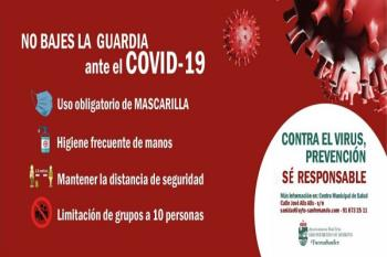 Reforzando la campaña del Ayuntamiento de las nuevas medidas de prevención