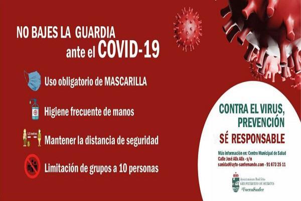 Los deportistas sanfernandinos se suman a la campaña de prevención del Covid
