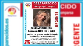 Ayúdanos a encontrar a Macarena Llorente Sanchidrián