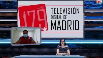 Televisión de Madrid habla con Iván Estrada, representante de Cruz Roja España, sobre la campaña de donación de sangre en Colmenar