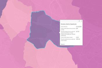 Hay unos 458 casos de covid-19 en el municipio