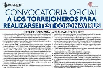 El ayuntamiento y Ribera Salud realizarán las pruebas serológicas hasta el miércoles 3 de junio