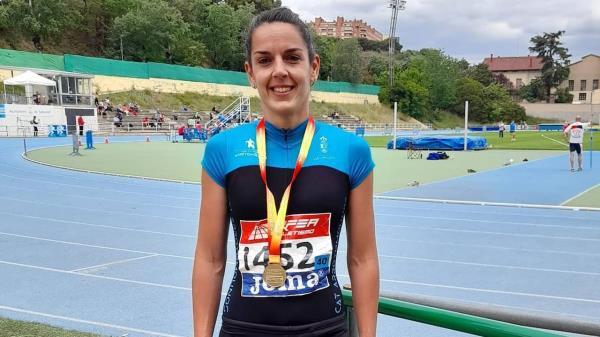 María Torres, del Atletismo Arroyomolinos, Campeona de España de Heptatlón