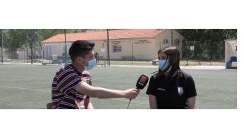 La coordinadora del fútbol base femenino del CD Avance presentó en Televisión de Madrid la IV edición del torneo de Fútbol 7 femenino que se va a llevar a cabo el próximo 5 de junio