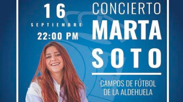 La cantautora estará en nuestra ciudad el próximo 16 de septiembre