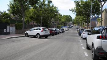 La calle Blas Cabrera cuenta ahora con 27 nuevas plazas de aparcamiento