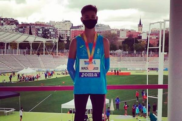 Mateo Manfredotti, del Atletismo Arroyomolinos, bronce en el Cto. de España Sub-14