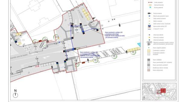 Las obras se realizarán entre la calle Gil de Andrade y la calle Coruña