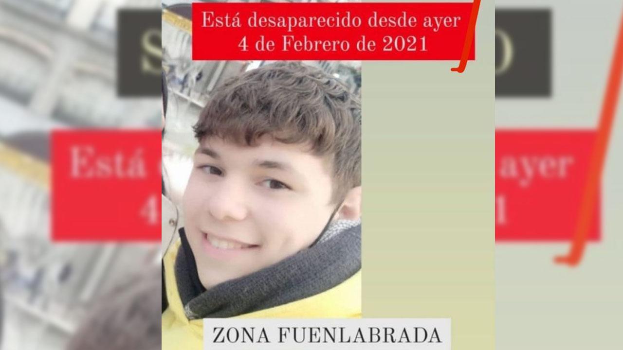 Se llama Enzo y lleva desaparecido desde el 4 de febrero
