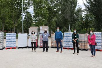 La asociación atiende a 700 familias del municipio a las que se destinarán las toneladas de alimentos de primera necesidad