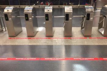 Este sistema limita el acceso cuando se supera el aforo previsto y será ampliado en 148 estaciones
