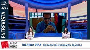 """El portavoz de Ciudadanos Boadilla, Ricardo Díaz, critica el lenguaje """"prebélico"""" del alcalde del municipio en redes sociales"""
