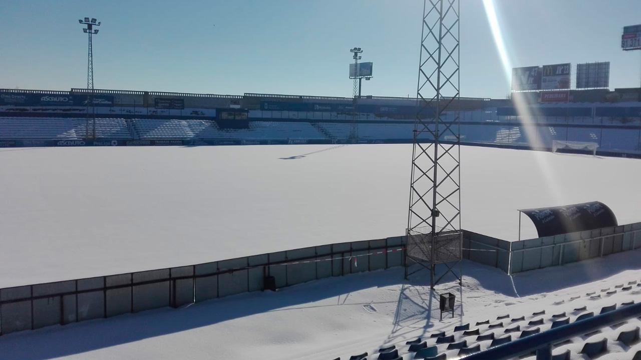 La nieve que cubre El Soto ha obligado a aplazar el encuentro entre nuestros equipos