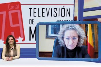 La alcaldesa de Aranjuez, María José Fernández de la Fuente, da la bienvenida a Soyde. haciendo balance de las medidas anticovid emprendidas en la ciudad