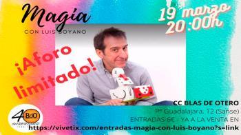 Luis Boyano ofrece un espectáculo para toda la familia en San Sebastián de los Reyes