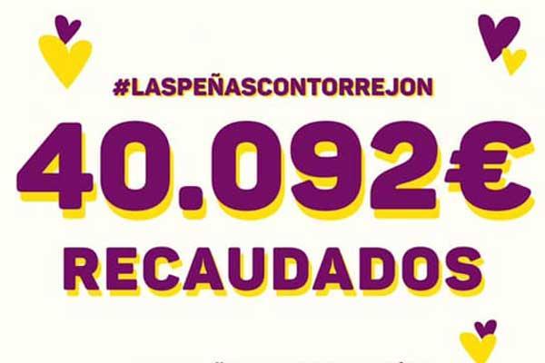 Nuestras Peñas recaudan más de 40.000 euros para el Hospital de Torrejón y las residencias