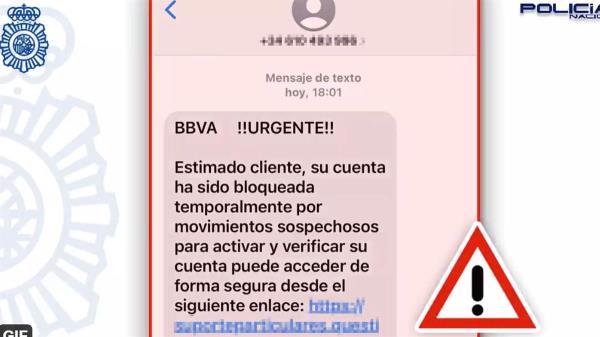 """La Policía Nacional advierte de una nueva estafa a través de mensajes """"bancarios"""""""