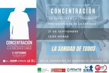 El 21 de septiembre los sindicatos de la Mesa Sectorial de Sanidad reanudan las protestas