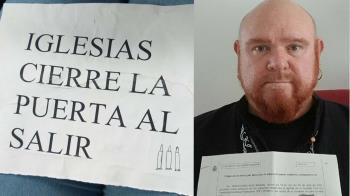 Roberto Murillo, concejal de Podemos, recibe una carta con tres proyectiles
